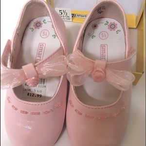 Smart fit Patent Leather pink shoes sz 5.5 girls